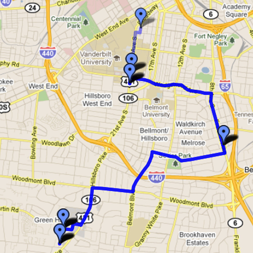 Downtown Nashville Map Submited Images  Pic2Fly